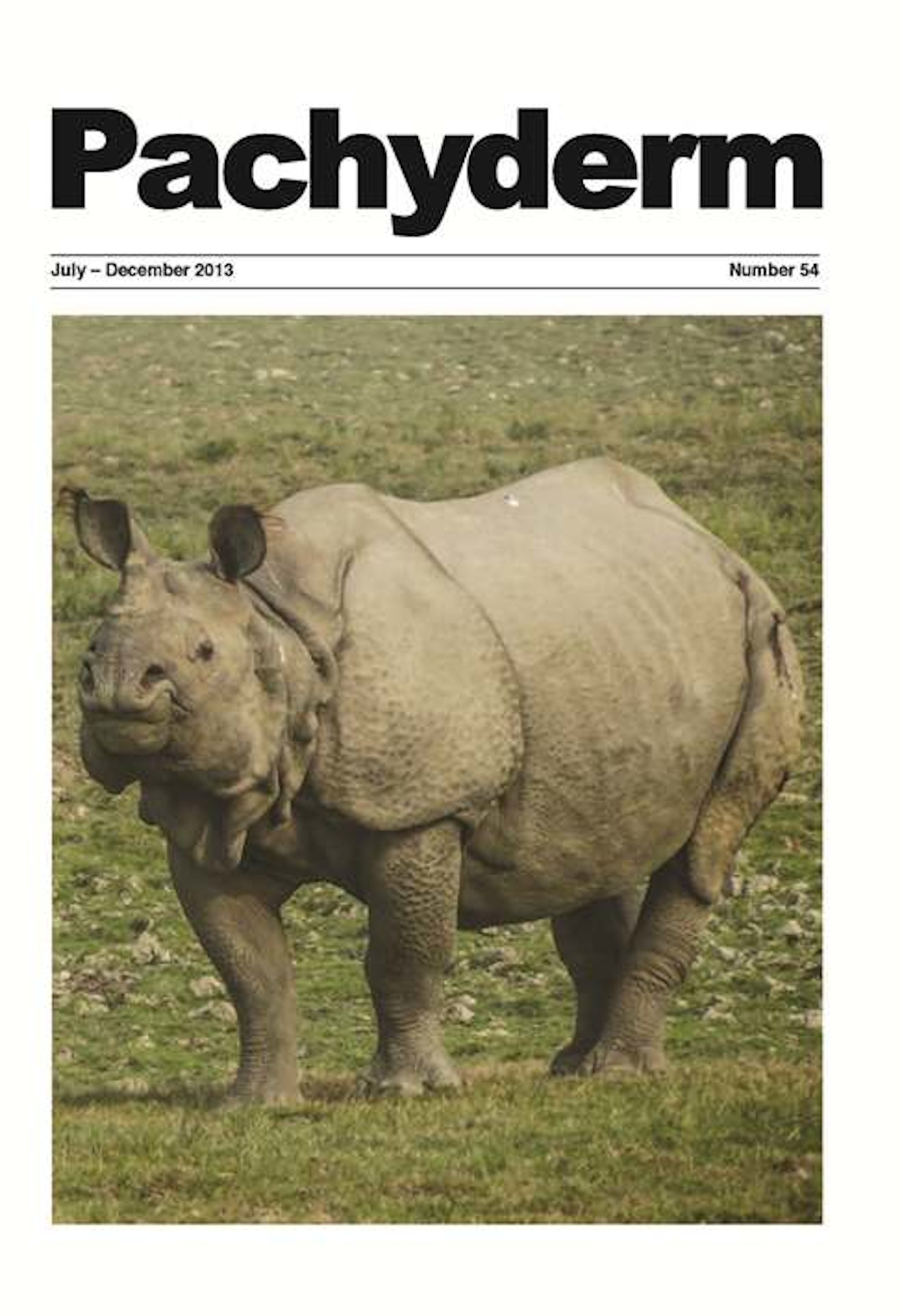 Cover: The greater one-horned rhino in Kaziranga National Park, India. © Bibhab K. Talukdar