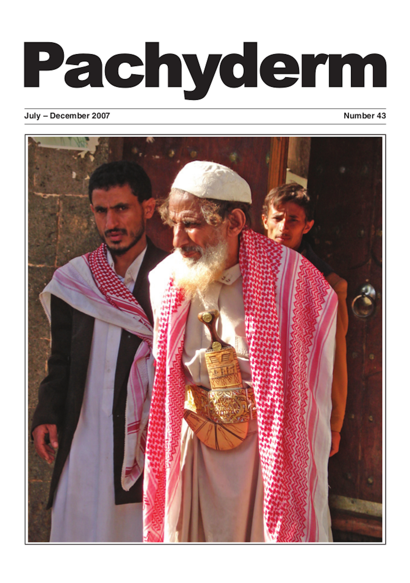 Cover: A Yemeni man proudly wears his dagger with its priceless rhino horn handle. Photo: Lucy Vigne